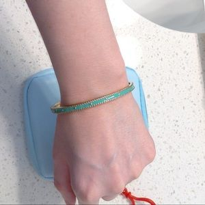 faux gold and turquoise bracelet